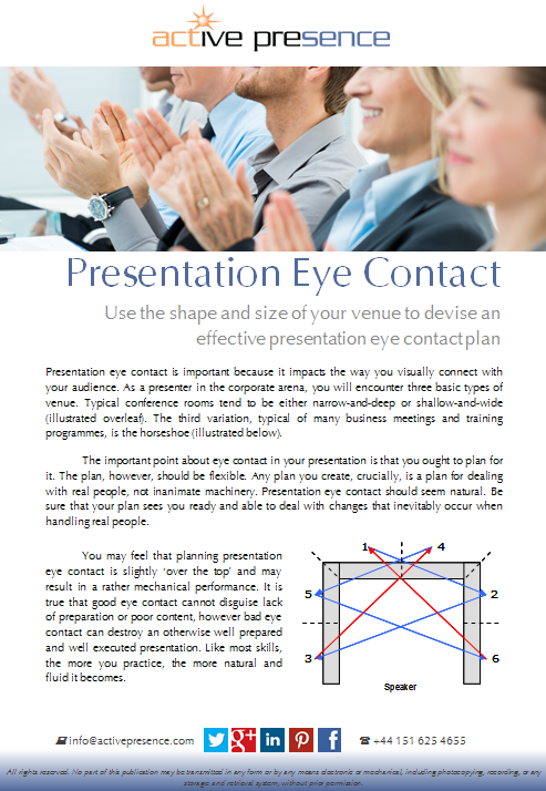presentation eye contact free advice