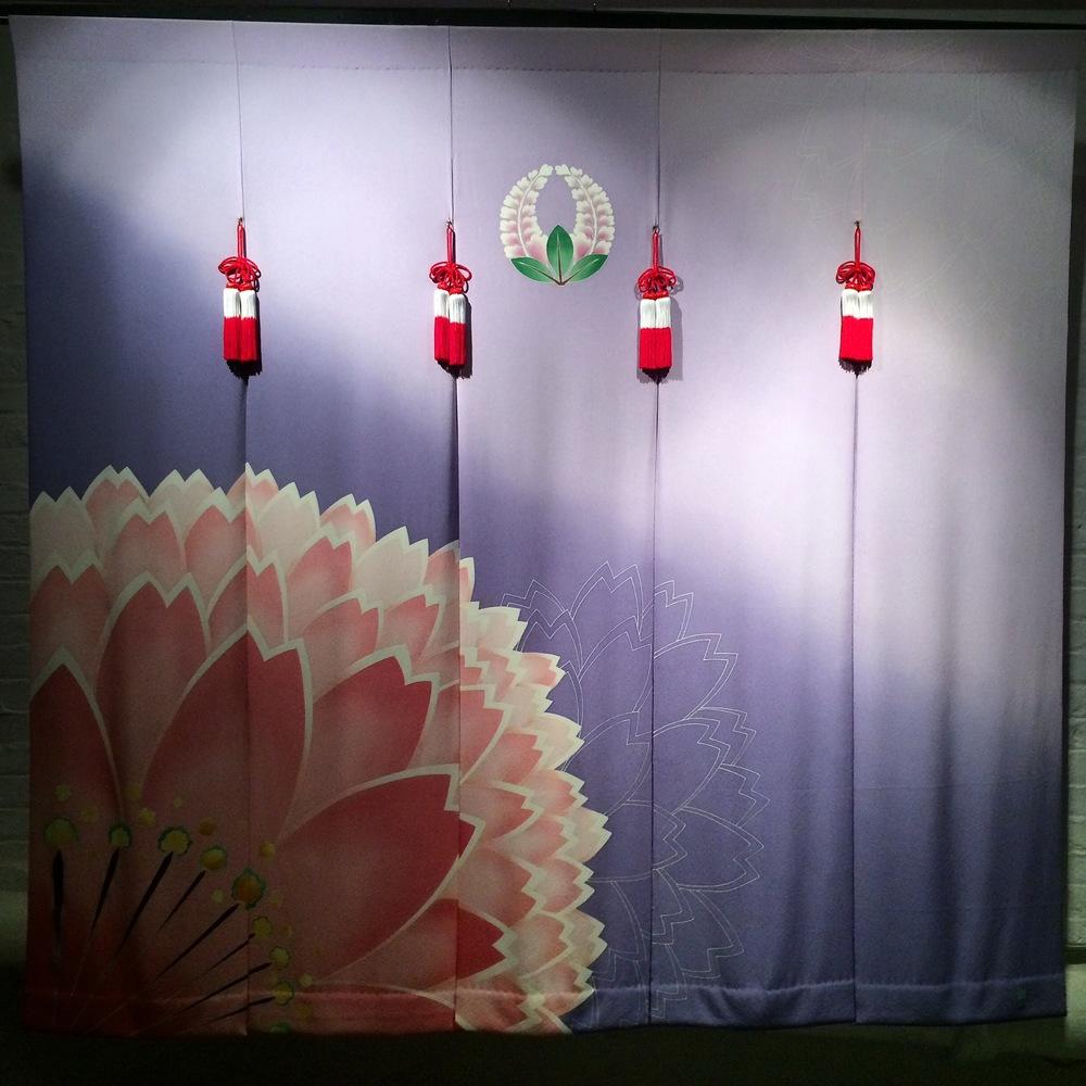 Kaga yuzen wedding noren by Toshiharu Hisatsune