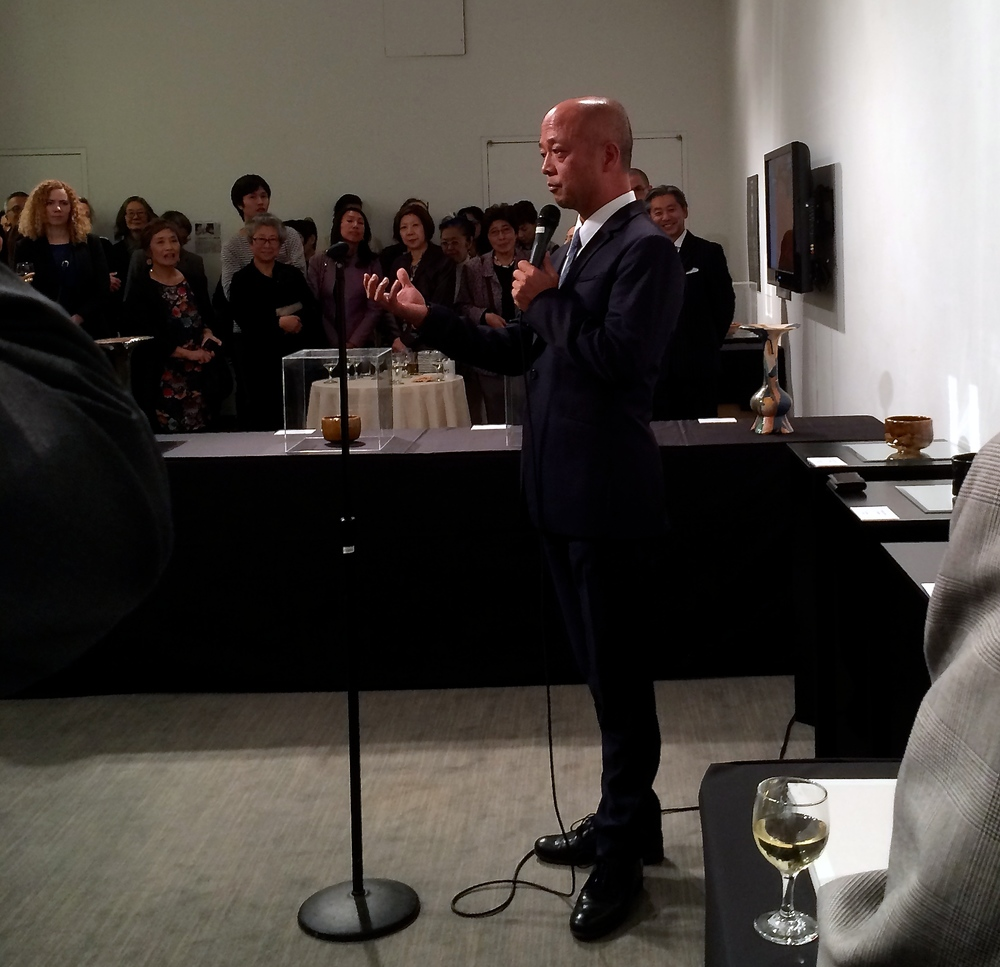 Toshio Ohi talks at exhibition opening