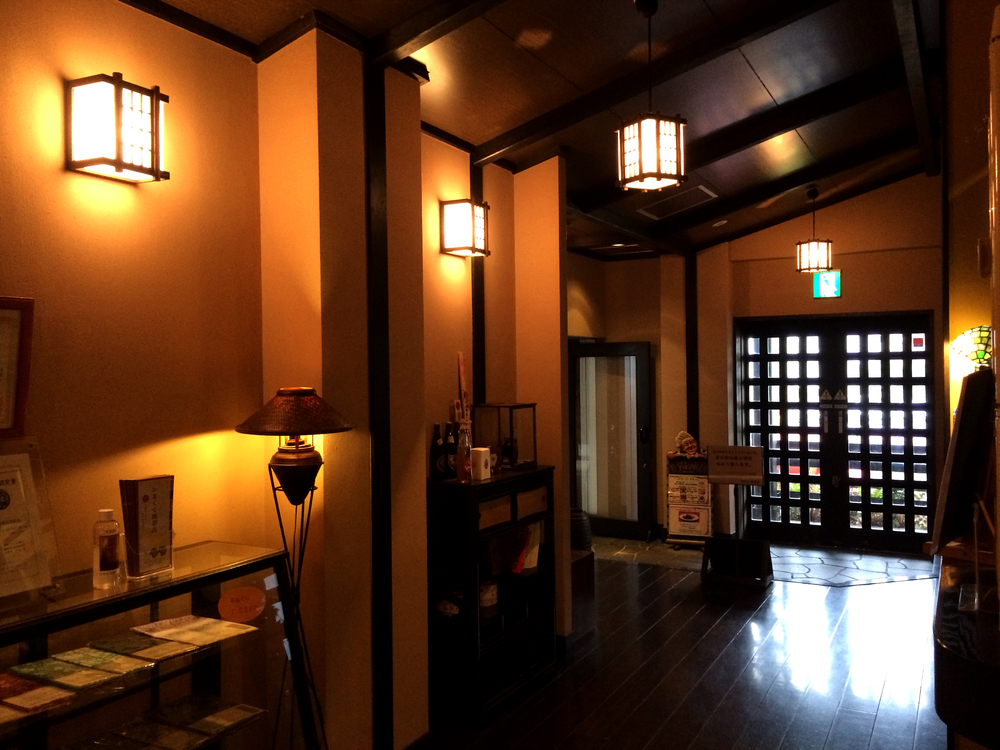 Inamuragasaki hot springs, old style Japanese house.