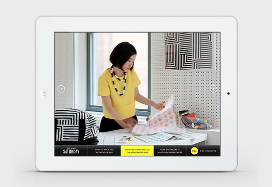 Kate Spade Saturday iPad Signage