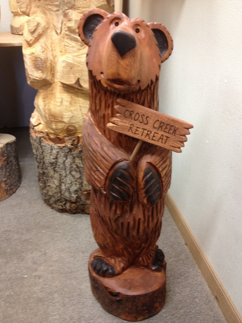 3 1/2 ft Bear Holding Sign