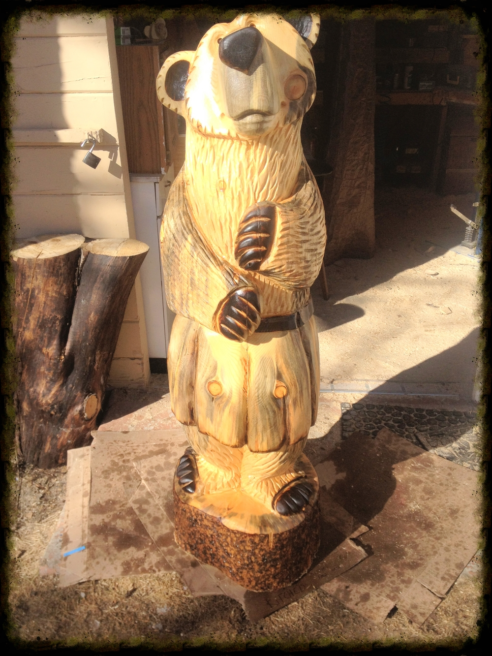 Bear wearing a kilt - 5 ft - SOLD for $750