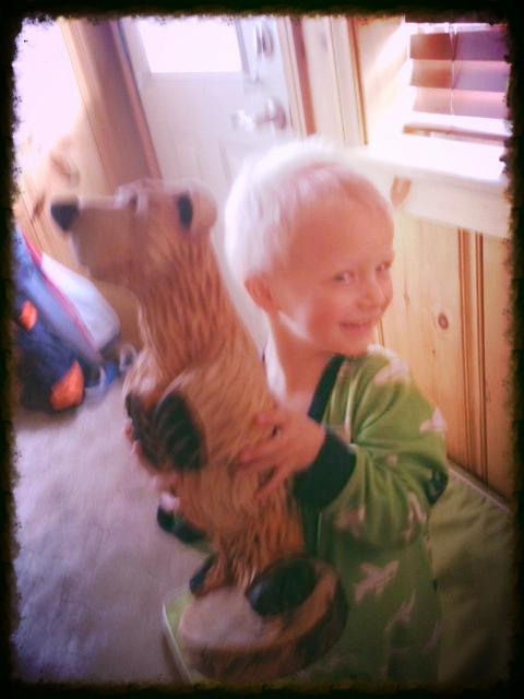 Wyatt and his bear