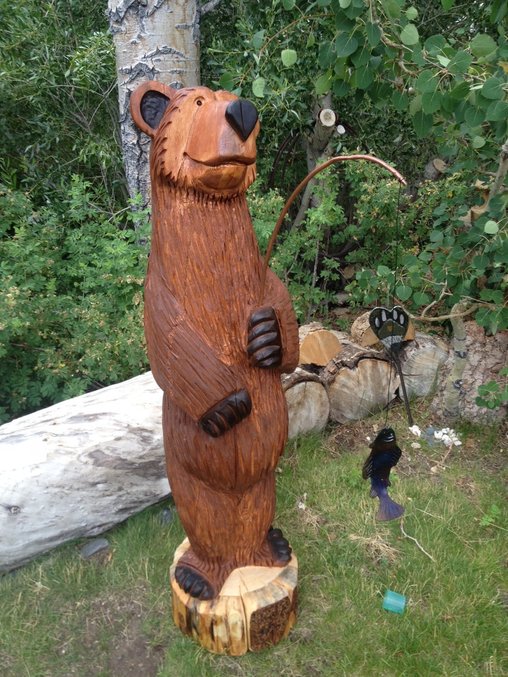 5' fishing bear
