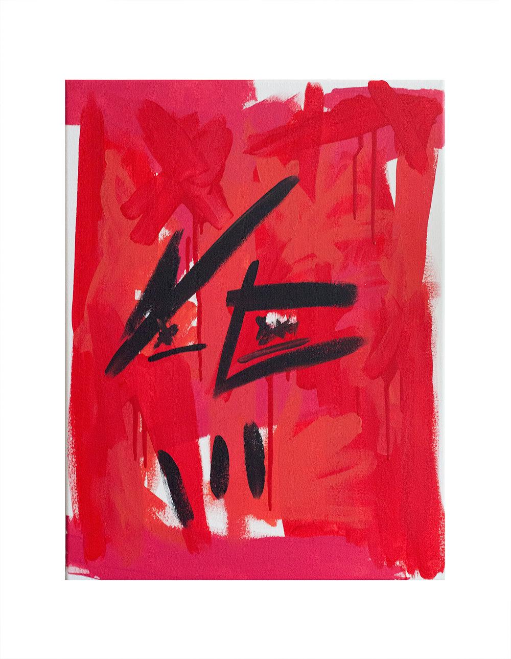 "True Love Acrylic on canvas 18"" x 24"" 2018"