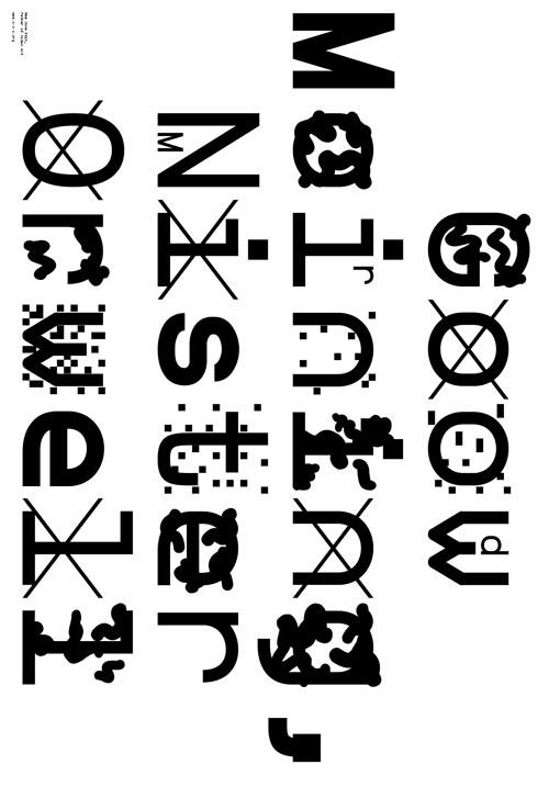 Sam Nun, ZXX Typeface, Courtesy of  www.z-x-x.org