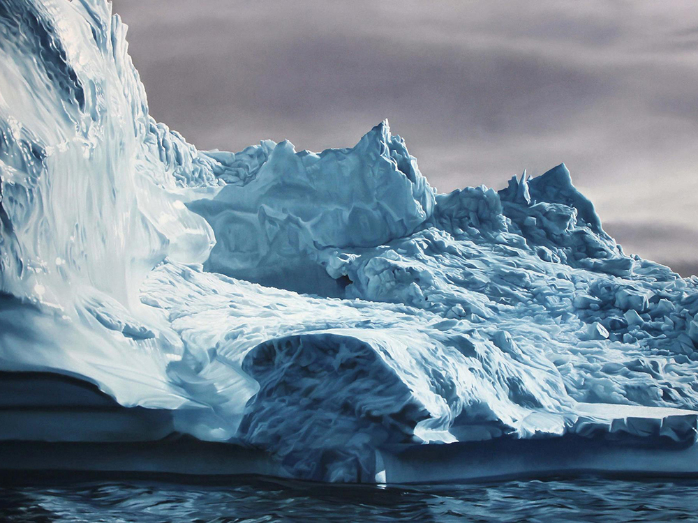 Zaria Forman, Chasing the Light in Greenland, courtesy of the artist