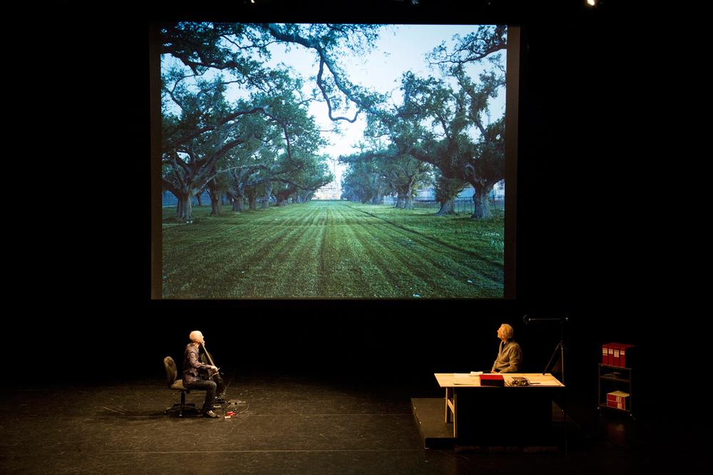 Mitch Epstein and Erik Friedlander, American Power at the Walker Art Center. Image courtesy of Greg Beckel, Walker Art