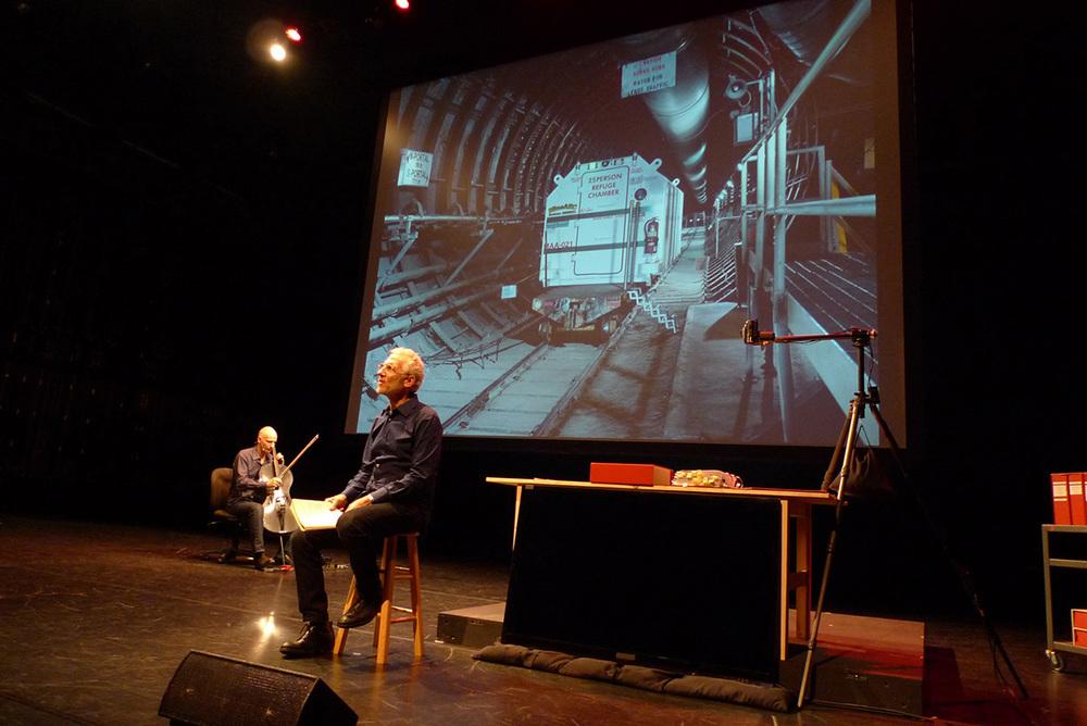 Mitch Epstein and Erik Friedlander, American Power at the Walker Art Center. Image courtesy of Sean Smuda
