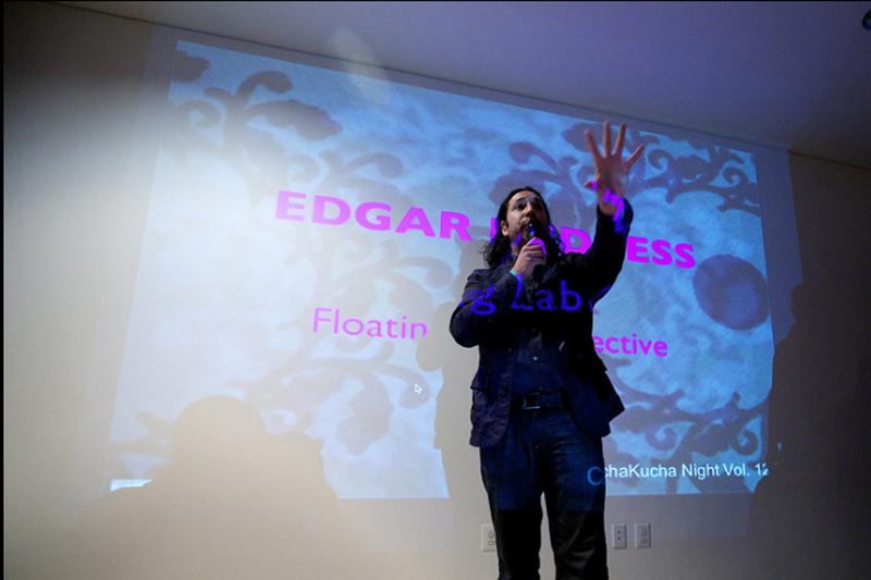 Edgar Endress, Floating Lab Collective, Image courtesy of Capitol Pecha Kucha's  Flickr