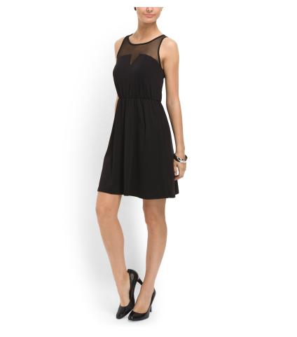 KENSIE Illusion Mesh Top Dress
