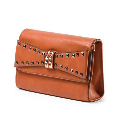 URBAN EXPRESSIONS Fab Studded Clutch With Bow