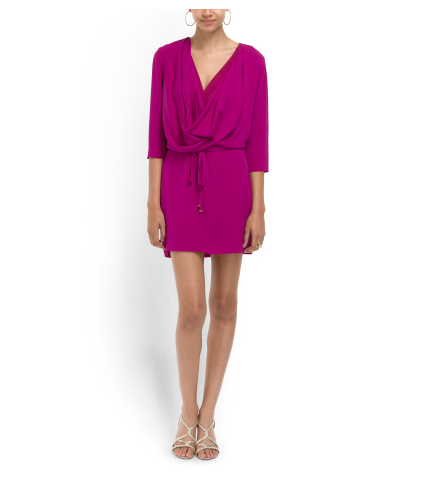 DIANE VON FURSTENBERG Silk Crepe Draped Dress