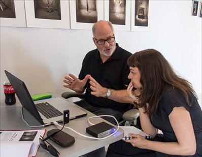 Greg Gorman going over some printing tips