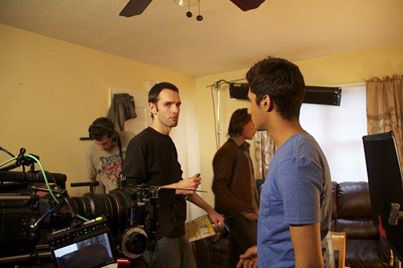 Director  Hilarion Banks  (left) and Actor/Producer Zuher Khan (right) discussing the up-coming scene.