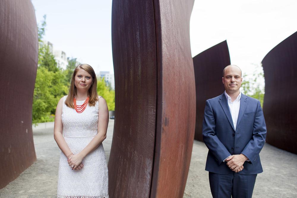 kelsey grant engagements seattle art museum sculpture