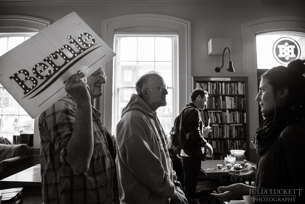 Ben & Jerry speak about Bernie at Book & Bar in Portsmouth, NH.