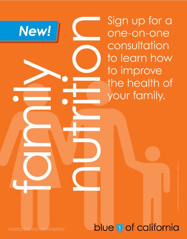 Famiiy Nutrition wellness poster