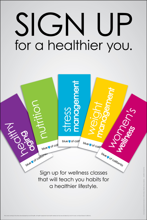 In-store signage for wellness classes