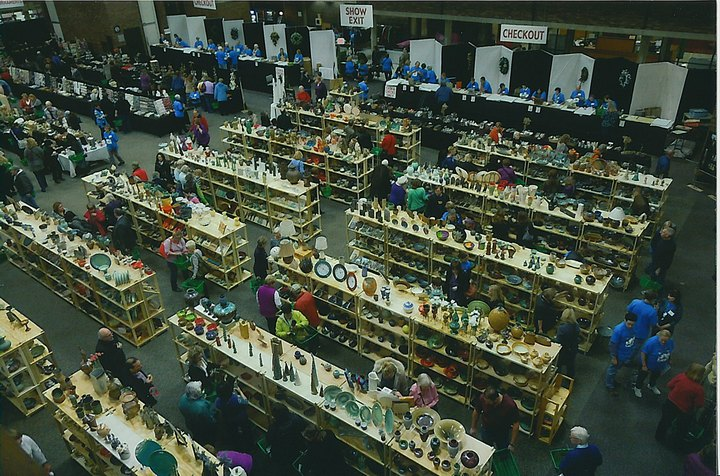 Over 8,000 pottery lovers attend the show each year