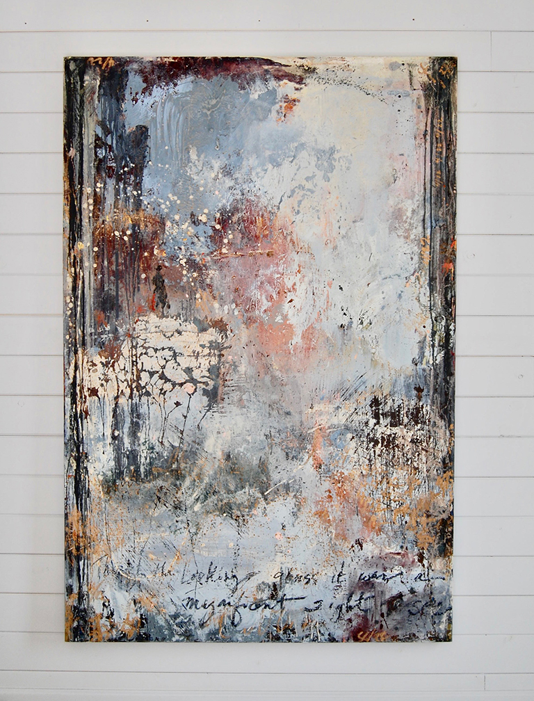 Through The Looking Glass, 72 x 48 inches, oil and cold wax on canvas
