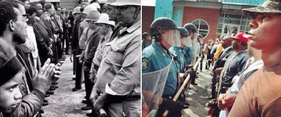 Civil Rights Act, 1964. 50 years later. Ferguson, Missouri, 2014.