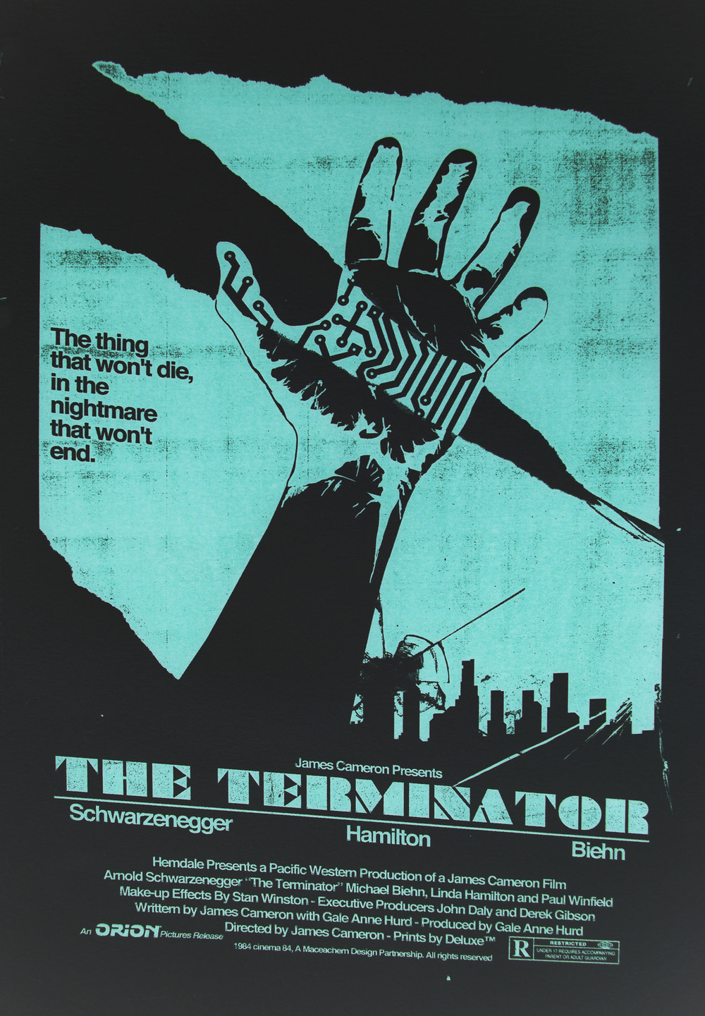 Art Movie Poste... T 1000 Terminator