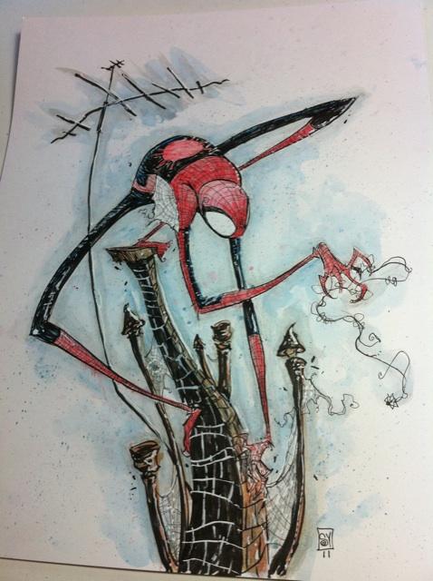 Geek Art Incredible Spider Man Piece By Artist Skottie