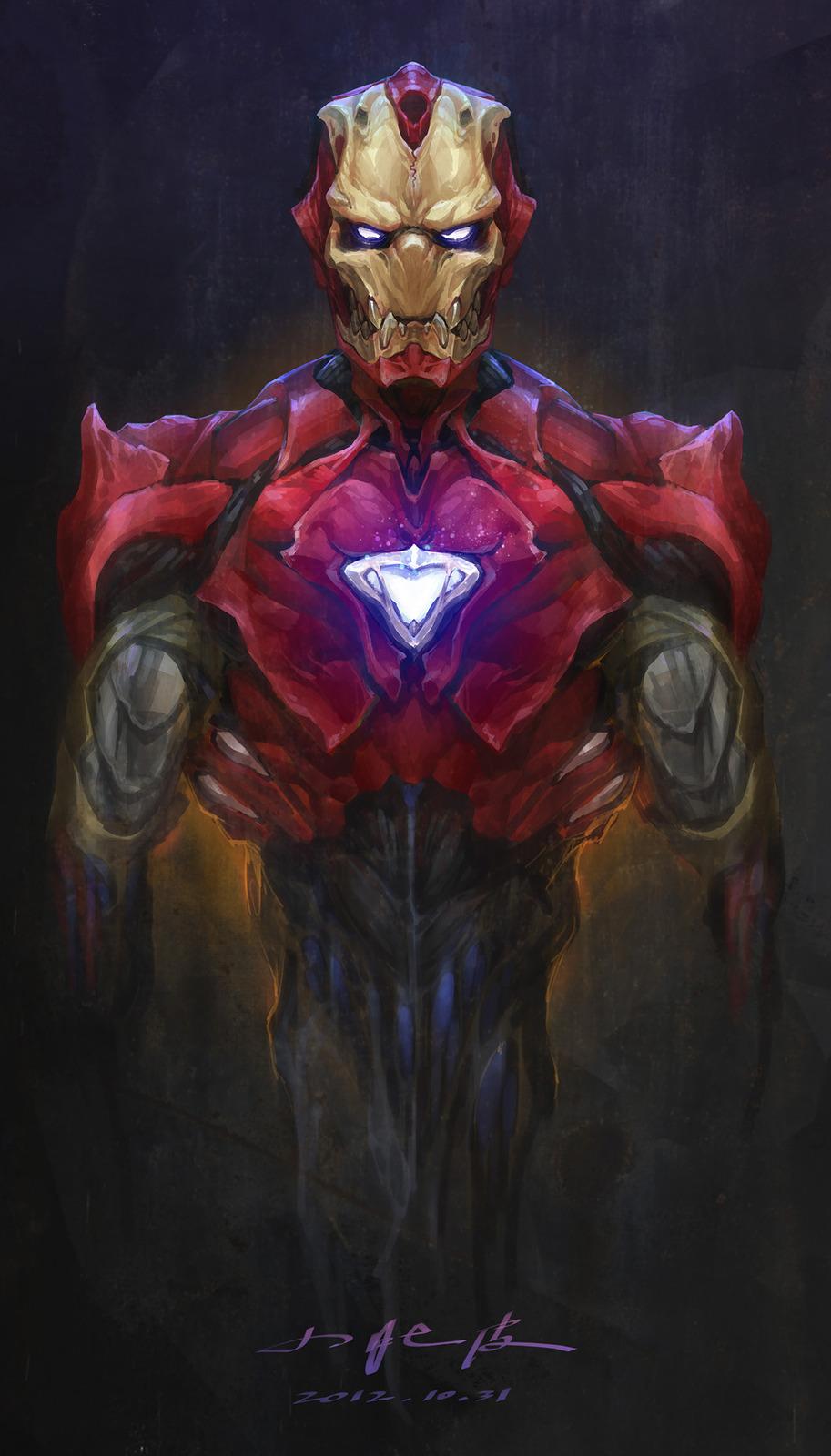 Really Cool Biochemical Iron Man Geek Art Geektyrant