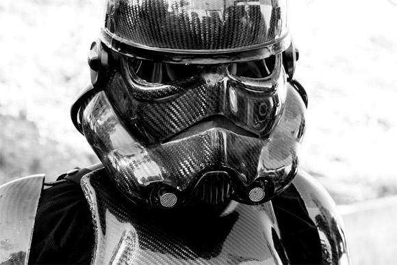 Carbon Fiber Motorcycle Helmet >> Badass Carbon Fiber Stormtrooper Costumes — GeekTyrant