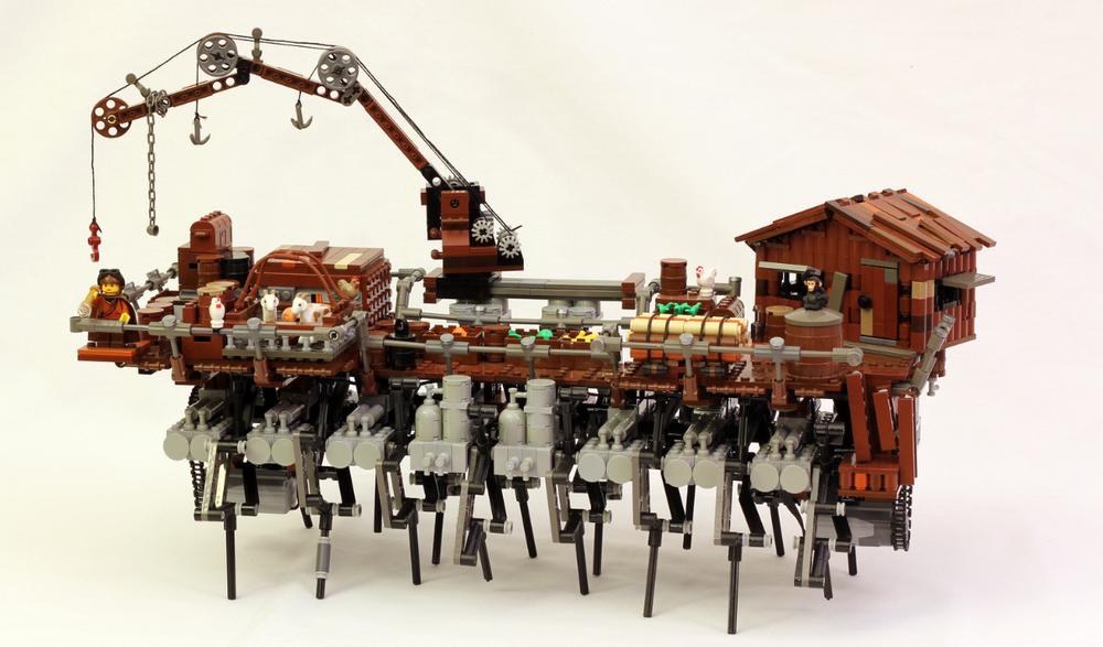 Crazy Cool Steampunk Walking Ship Amagosa Geektyrant