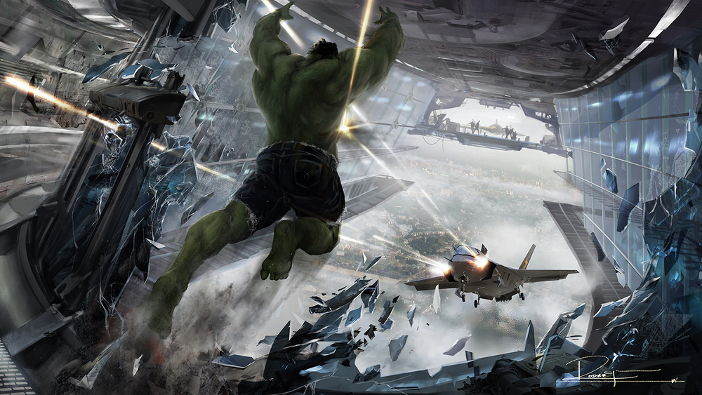 Badass Concept Art for THE AVENGERS and GREEN LANTERN ...