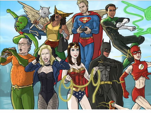 Epic Community Justice League Mashup Art Geektyrant