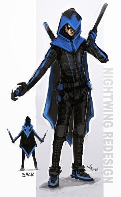 Gallery For gt Nightwing Costume Kids Batman