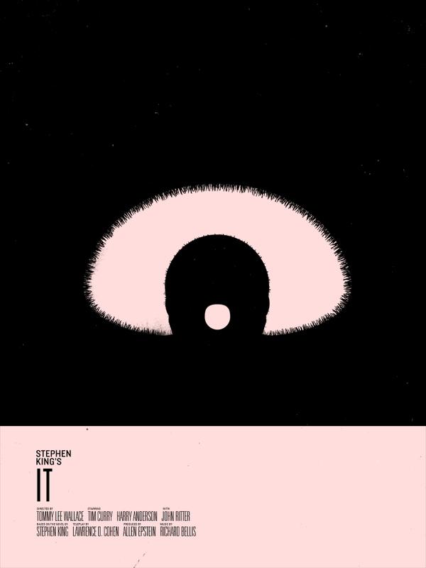 Minimalist Horror Book Covers ~ Stephen king minimalist movie poster art — geektyrant