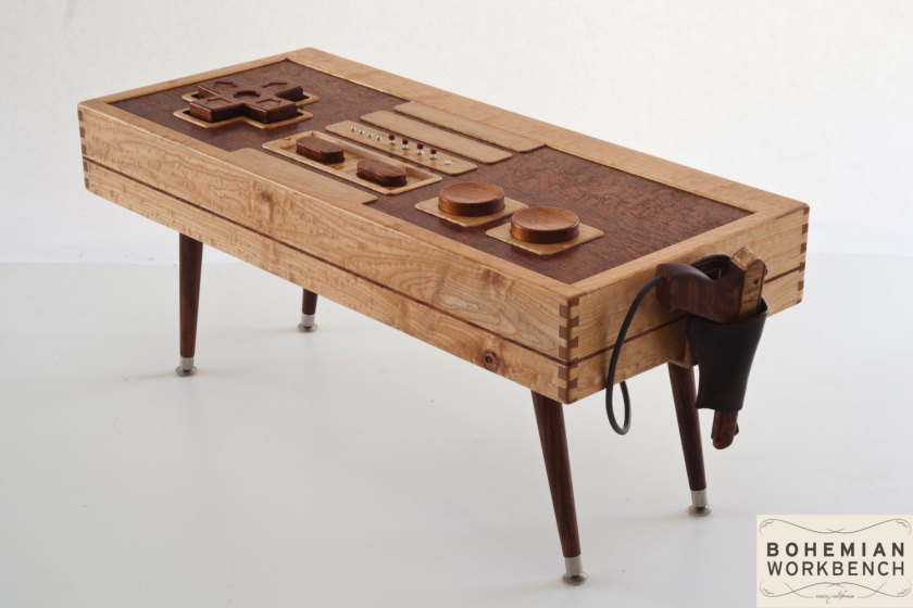 This Wooden Nes Controller Coffee Table Is Perfect For Any Gamer Geektyrant