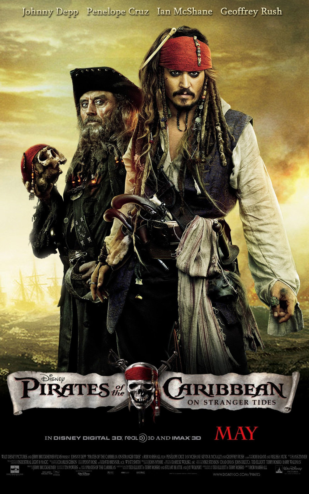 New Pirates Of The Caribbean 4 Poster Features Jack