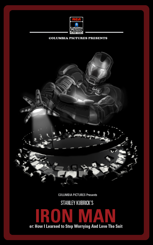iron man movie posters inspired by stanley kubrick
