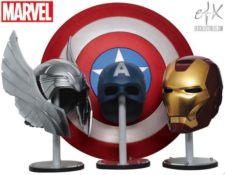THE AVENGERS - Helmet Replicas for Thor, Captain America ...