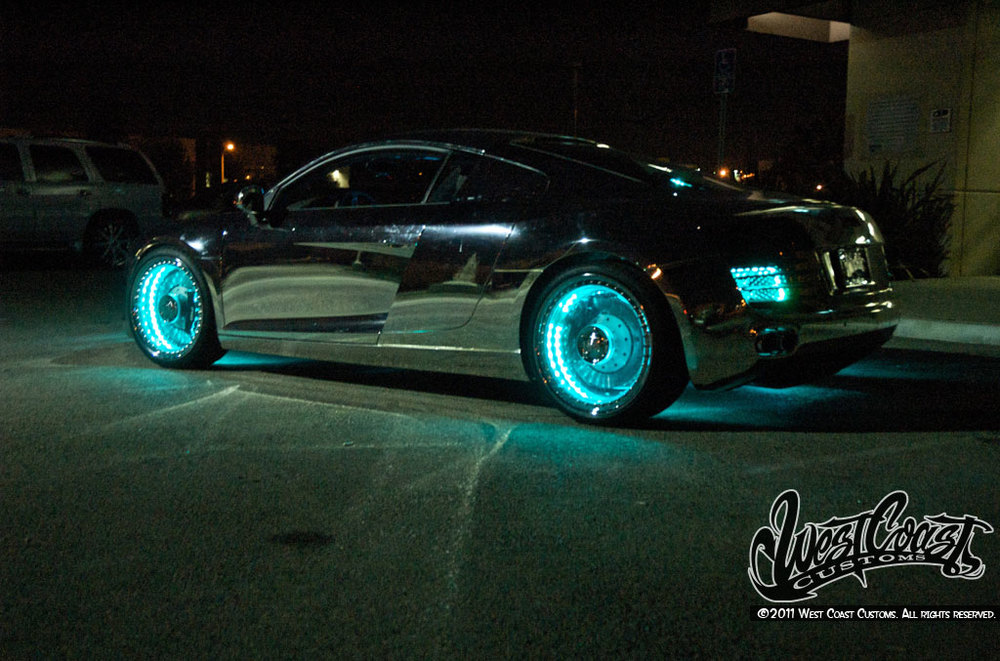 This Custom Made Tron Audi R8 Car Is Pretty Freakin