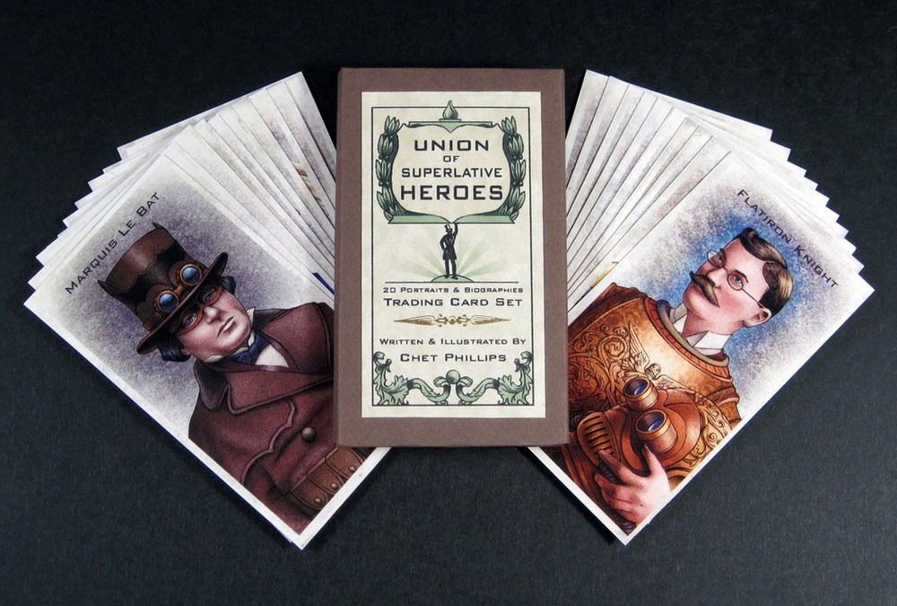 Steampunk Superhero Trading Card Art  Union Of Superlative Heroes