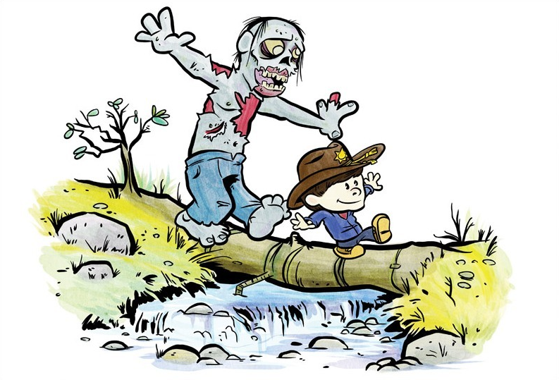 The Walking Dead Meets Calvin and Hobbes — GeekTyrant