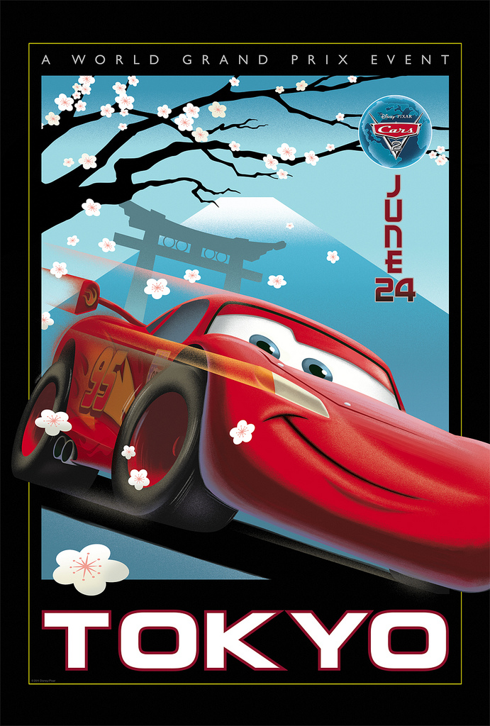 International Trailer for CARS 2, Retro Posters, and more Images ...