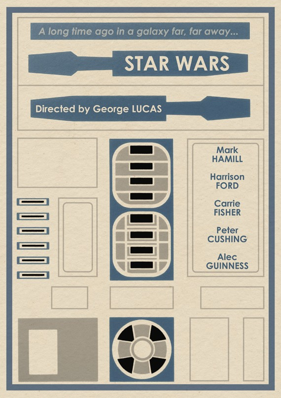 Limited Edition Star Wars R2 D2 Profile Poster Geektyrant
