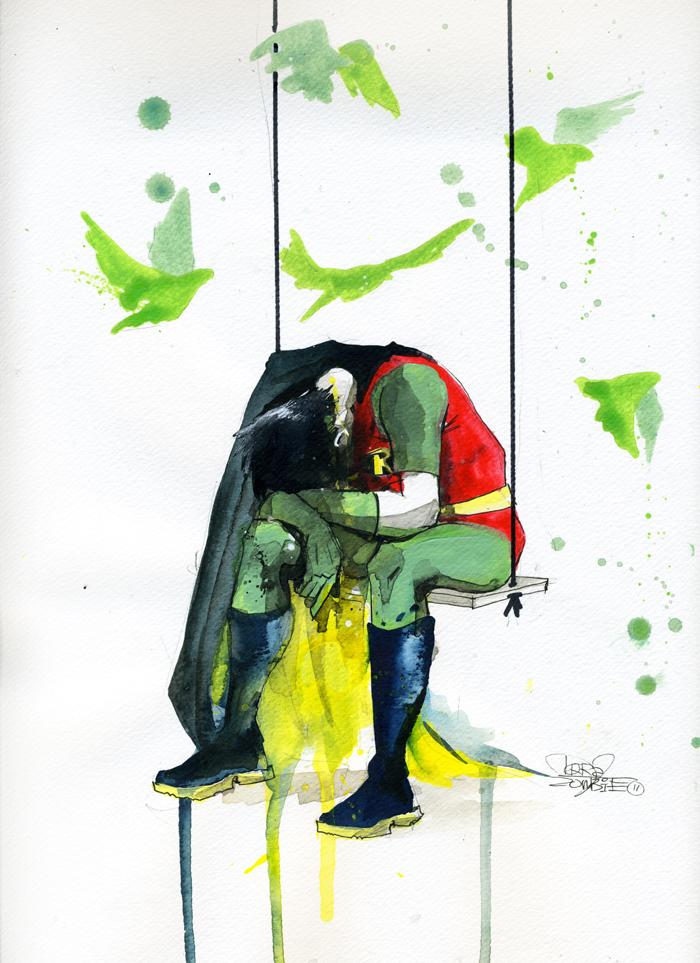 Zombie Horde Art Depressed Superheros A...
