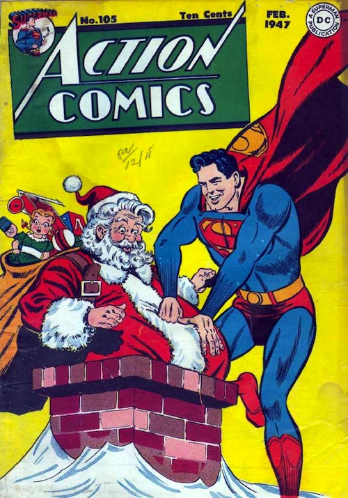 Christmas Comic Book Cover Collection 25 Posts Of Geek
