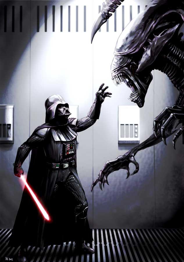 Darth Vader & Darth Maul vs. Aliens — GeekTyrant