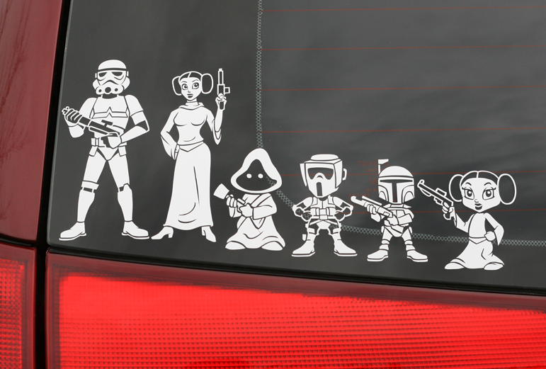 STAR WARS Decals Are Fun For The Whole Family  GeekTyrant - Window stickers for cars family