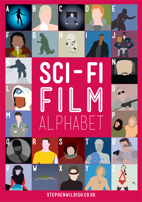 movies that start with the letter e sci fi alphabet poster geektyrant 4353